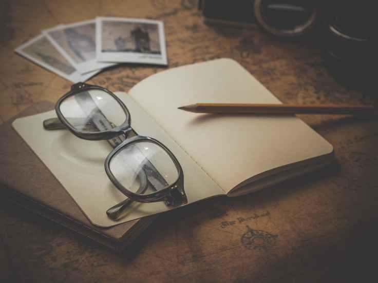 antique blank blur book